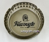 Harvey's Hotel * Inn, Casinos - Black imprint Glass Ashtray