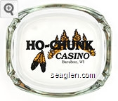 Ho-Chunk Casino, Baraboo, WI - Black imprint Glass Ashtray