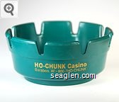Ho-Chunk Casino, Baraboo, WI, 800-7HO-CHUNK - Gold imprint Plastic Ashtray