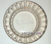 Del Webb's High Sierra Casino Hotel, Lake Tahoe - Molded imprint Glass Ashtray