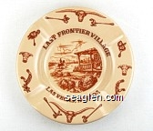 Last Frontier Village, Las Vegas, Nevada - Brown imprint Porcelain Ashtray