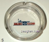 Holiday, Holiday Inn, Casino - Red and blue imprint Glass Ashtray