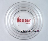 the Holiday in Reno - Red imprint Glass Ashtray