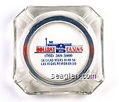 Holiday Casino, Holiday Inn, (702) 369-5000, 3473 Las Vegas Blvd. So., Las Vegas, Nevada 89109 - Blue and red imprint Glass Ashtray