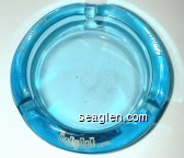 Tom Moore's, Holiday Hotel, Reno - White imprint Glass Ashtray