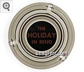 The Holiday in Reno - Red on black imprint Glass Ashtray