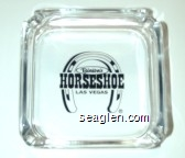 Binion's Horseshoe, Las Vegas - Black imprint Glass Ashtray
