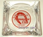 Joe W. Brown's Horseshoe Club, Downtown Las Vegas - Red imprint Glass Ashtray