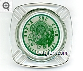 Horse Shu Club, Contact, Nevada - Green on white imprint Glass Ashtray
