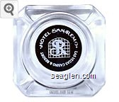 Hotel San Remo, Las Vegas Casino & Resort - White imprint Glass Ashtray