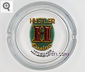 Hustler Casino, 1-877-968-9800, www.hustlergaming.com - Multicolor imprint Glass Ashtray
