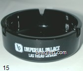 Imperial Palace Las Vegas Nevada, Best Western, ''A Many Splendored Thing'', (800) 634-6868 - White imprint Glass Ashtray