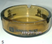 Imperial Palace Las Vegas Nevada, Best Western, ''A Many Splendored Thing'', (800) 634-6868 - Black imprint Glass Ashtray