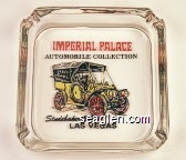 Imperial Palace Automobile Collection, Studebaker 1906, Las Vegas - Red and black imprint Glass Ashtray