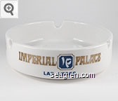 Imperial Palace, Las Vegas - Gold and blue imprint Porcelain Ashtray