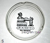 Jail House Casino, Ely, Nevada - Black imprint Glass Ashtray