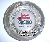 Jackpot Junction Casino, Morton, Minnesota, 1-800-LETTER-X - Red and black imprint Glass Ashtray