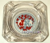 JN Jerry's Nugget Casino - Red and gray imprint Glass Ashtray