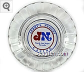 Jerry's Nugget Casino, JN, North Las Vegas Nevada - Red and blue on white imprint Glass Ashtray