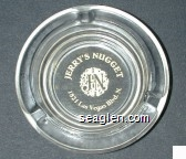 Jerry's Nugget, JN, 1821 Las Vegas Blvd. N. - Gold imprint Glass Ashtray