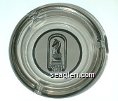 Jockey Club - Brown on white imprint Glass Ashtray