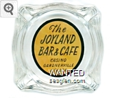 The Joyland Bar & Cafe, Casino, Gardnerville, Nevada - Black on yellow imprint Glass Ashtray
