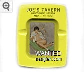 Joe's Tavern, Hawthorne, Nevada, Prop - Joe Viani - Black imprint Metal Ashtray
