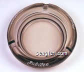 Jubilee, Pagni, Brothers - White imprint Glass Ashtray