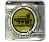 Club Bingo - Black on yellow imprint Glass Ashtray