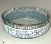 Kings Castle, Lake Tahoe, Nevada - White and gray imprint Glass Ashtray