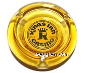 Kings Inn Casino, Reno Nevada - Black on yellow imprint Glass Ashtray