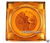 Kit Carson Casino, Carson City, Nevada - Brown on white imprint Glass Ashtray