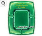 Kit Carson Club, Friendliest Corner in Nevada, Carson City, Nevada - Yellow imprint Metal Ashtray