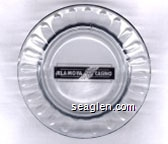 KLA-MO-YA Casino - Black imprint Glass Ashtray