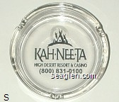 Kah-Nee-Ta High Desert Resort & Casino, (800) 831-0100 - Black imprint Glass Ashtray