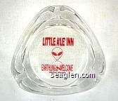 Little A'le' Inn, Earthlings Welcome, Rachel, Nevada - Red imprint Glass Ashtray