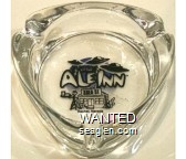 Little Ale Inn, Area 51, Rachel, Nevada - Black and blue imprint Glass Ashtray