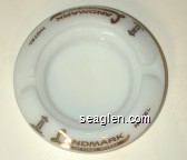 Landmark Hotel, Las Vegas, Nevada - Gold imprint Glass Ashtray