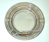 Landmark Hotel, Las Vegas, Nevada - White imprint Glass Ashtray