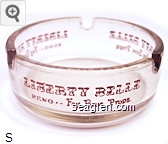 Liberty Belle, Reno - Fey Bros Props - Brown imprint Glass Ashtray