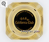 Compliments of Billye Long, Phil Long's California Club, Downtown Las Vegas - Yellow on black imprint Glass Ashtray