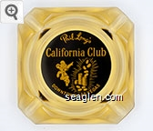 Phil Long's California Club, Downtown Las Vegas - Yellow on black imprint Glass Ashtray
