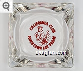 California Club, Downtown Las Vegas - Red imprint Glass Ashtray