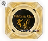 California Club, Downtown Las Vegas - Yellow on black imprint Glass Ashtray