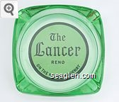 The Lancer Reno, On the Mt. Rose Highway - Black on white imprint Glass Ashtray