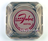 Lake Tahoe Hotel, Incline Village, Nevada - Red on white imprint Glass Ashtray