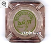 Las Vegas Club, World Famous Dugout Restaurant, Hotel - Las Vegas - Nev. - Casino - Green on white imprint Glass Ashtray