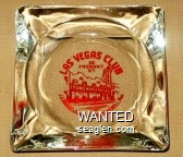 Las Vegas Club, 25 Fremont St., J ? Owner - Freddie Merrill Mgr. - Red imprint Glass Ashtray