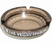 Las Vegas Hilton - White imprint Glass Ashtray