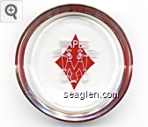 Mapes, 1977 - White and red imprint Glass Ashtray